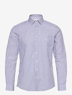 STRETCH STRIPE SLIM SHIRT - businesskjorter - royal blue
