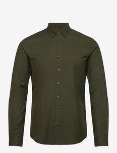 SOFT TOUCH BD SLIM SHIRT - chemises décontractées - dark olive