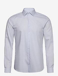 STRETCH COLLAR DOBBY SLIM SHIRT - businesskjorter - light blue