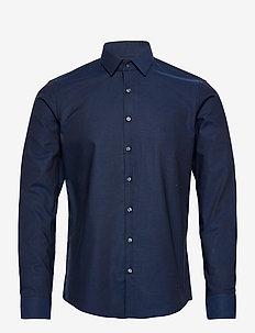 DOBBY EASY CARE SLIM SHIRT - koszule casual - navy