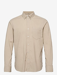 BUTTON DOWN FINE CORDUROY SHIRT - casual overhemden - bleached stone