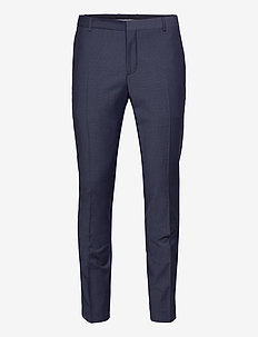 BI-STRETCH HOUNDSTOOTH SLIM PANT - suit trousers - calvin navy