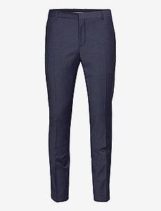 BI-STRETCH HOUNDSTOOTH SLIM PANT - suitbukser - calvin navy