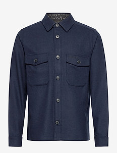 WOOL SHIRT JACKET - hauts - calvinnavy