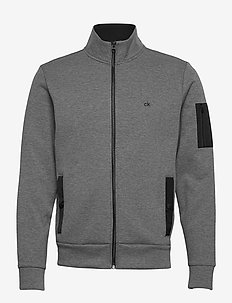 TECHNO JACQUARD FULL ZIP JACKET - cardigans - dark grey heather
