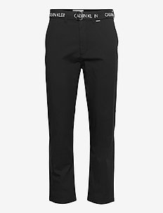 BELTED PANT - chinos - ck black