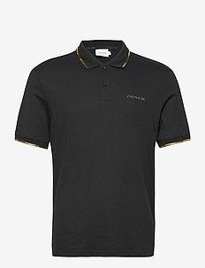 GOLD LOGO POLO - short-sleeved polos - ck black