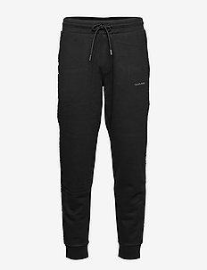 GOLD LOGO SWEATPANTS - tøj - ck black/silver