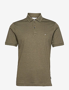 LIQUID TOUCH SLIM POLO - polos à manches courtes - dark olive heather