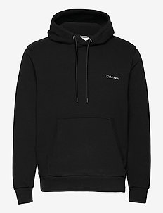 SMALL CHEST LOGO HOODIE - basic sweatshirts - ck black