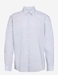 STAIN SHIELD PRINT SLIM SHIRT - linneskjortor - light blue