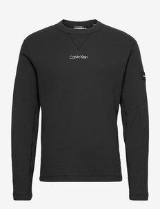 WAFFLE LONG SLEEVE T-SHIRT - t-shirts basiques - ck black