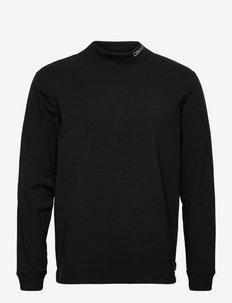 SLIM STRETCH MOCK LS T-SHIRT - långärmade t-shirts - ck black
