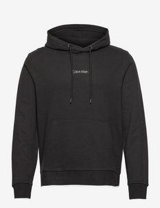 CENTER LOGO HOODIE - hoodies - ck black