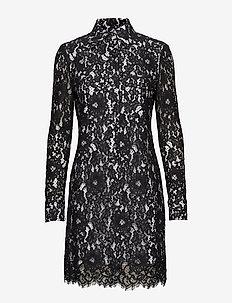 LACE DRESS LS - kanten jurken - perfect black