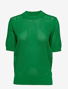 MICRO LACE SOLID C-NK SWTR - FERN GREEN