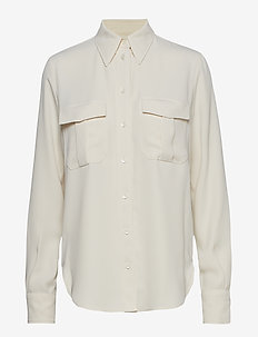SMOOTH TWILL POLICE PKT SHIRT LS - CALICO