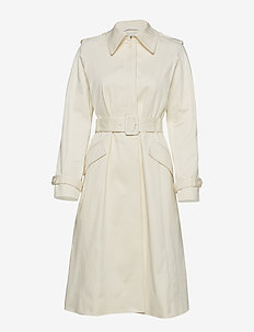 SOLID TWILL LONG TRENCH - CALICO