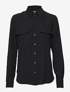 SMOOTH TWILL POLICE PKT SHIRT - long sleeved blouses - calvin black