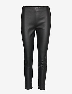 ESSENTIAL LEATHER MIX LEGGING - CALVIN BLACK