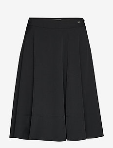 SMOOTH TWILL HALF CIRCLE SKIRT - calvin black