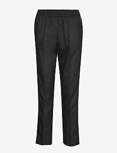 FLANNEL TAILORED JOGGER PANT - CALVIN BLACK