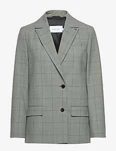 CHECK RELAXED BLAZER - tailoring check - apple mint
