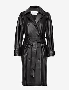 LEATHER TRENCH COAT - trencze - calvin black