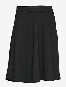 JERSEY HALF CIRCLE SKIRT - calvin black