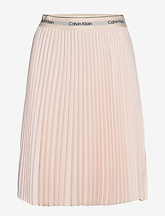 SUNRAY PLEAT MIDI EL - perfect peach