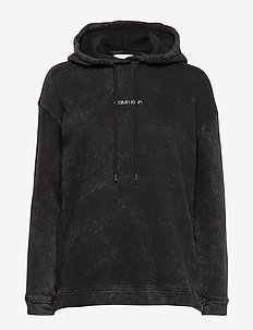 RELAXED FIT LOGO ACI - hoodies - calvin black