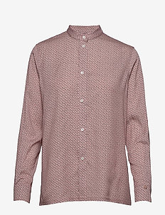 LS CK MONOGRAM SHIRT - CK SHADOW - MUTED PINK / BLACK