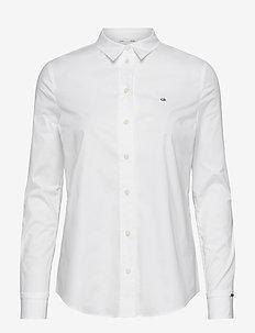 SLIM SHIRT LS - long-sleeved shirts - bright white