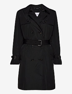 LIGHTWEIGHT NYLON TRENCH - trenchcoats - ck black