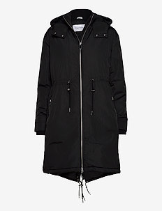 LIGHTWEIGHT NYLON PARKA - parka coats - ck black