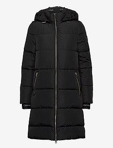 LOGO PUFFER COAT - manteaux d'hiver - ck black