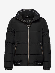 LOGO PUFFER JACKET - padded jackets - ck black