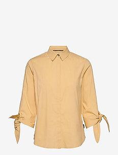 SOFT POPLIN 3/4 TIE CUFF SHIRT - langermede bluser - muted yellow