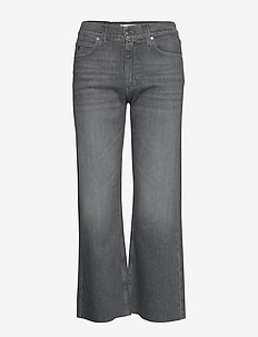 WIDE LEG CROP PANT - vide jeans - maceio mid grey