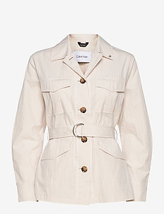 LS PAPER TOUCH FIELD JACKET - vestes utilitaires - white smoke