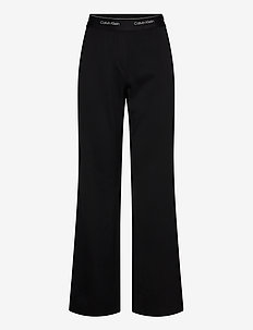 ELASTICATED WIDE LEG PANT - bukser med brede ben - ck black
