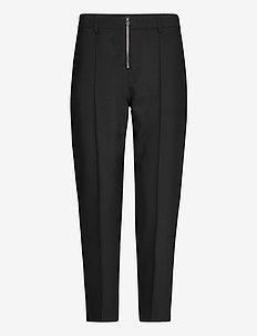 ZIP UP CIGARETTE PANT - straight leg trousers - ck black