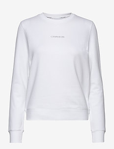 LS 3D METALLIC LOGO HWK - sweatshirts - bright white