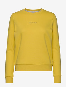 LS 3D METALLIC LOGO HWK - sweatshirts - yellow dahlia