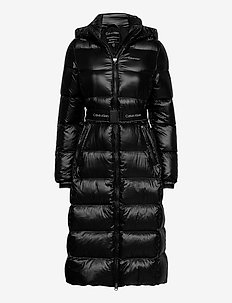 LOFTY DOWN BELTED MA - padded coats - ck black