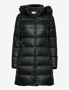 ESSENTIAL REAL DOWN COAT - padded coats - ck black