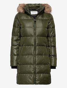 ESSENTIAL REAL DOWN COAT - dynefrakke - dark olive
