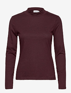 LIQUID TOUCH TURTLE NECK TOP - long-sleeved tops - port royale melange