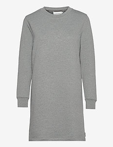 LS STUD LOGO HWK DRE - midiklänningar - mid grey heather