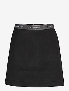 DOUBLE FACE SKIRT - spódnice mini - ck black
